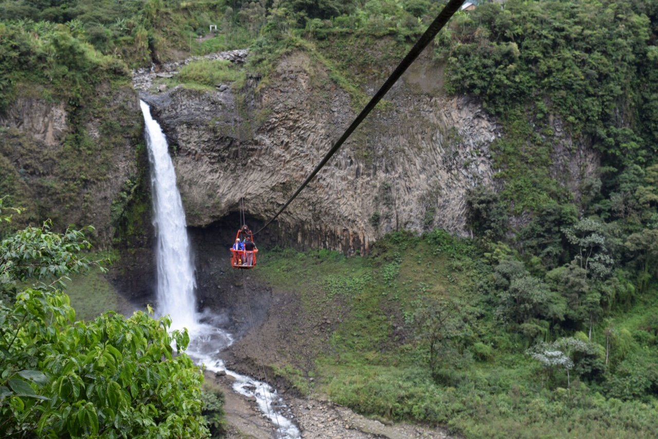 A guide on what to do in Baños, Ecuador featuring how to swing at the famous tree house, see the waterfalls, and what you should pack!