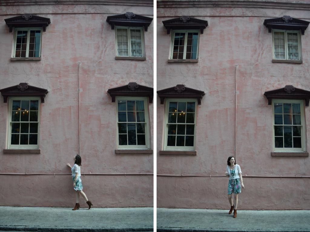 The olde pink house in Savannah, Georgia