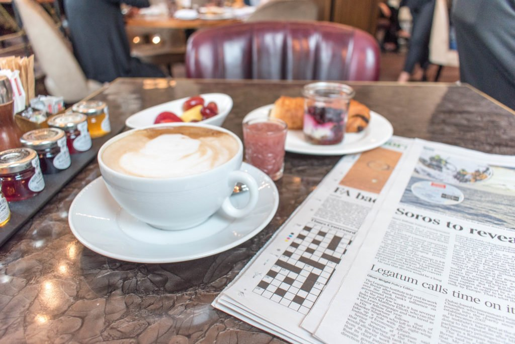 Sofitel London St James breakfast