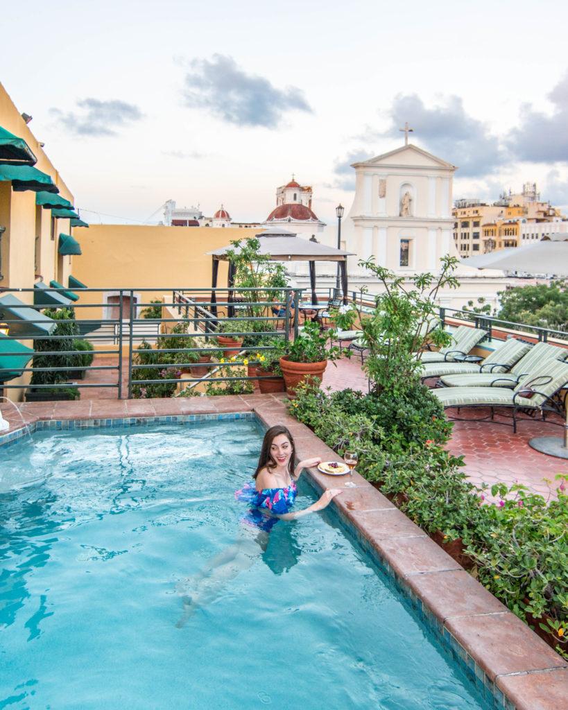Hotel El Convento rooftop pool San Juan, Puerto Rico