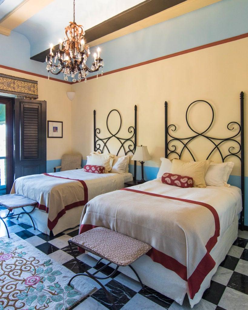 Hotel El Convento bedroom San Juan, Puerto Rico