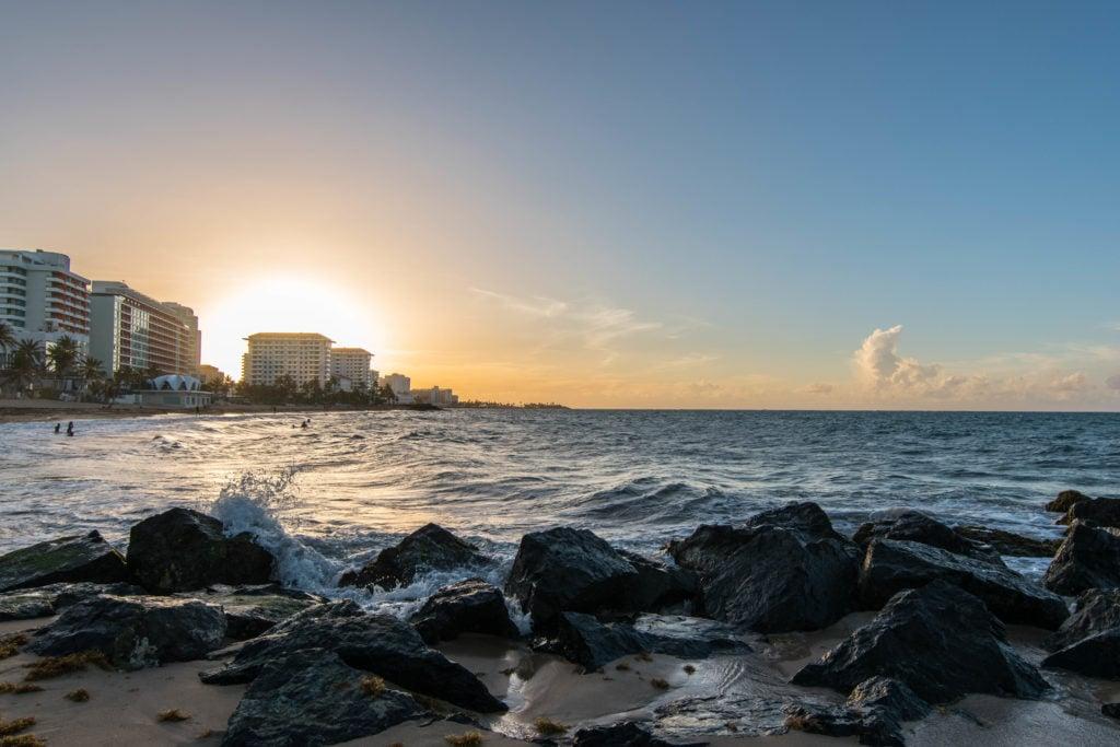 Concado beach sunset San Juan, Puerto Rico
