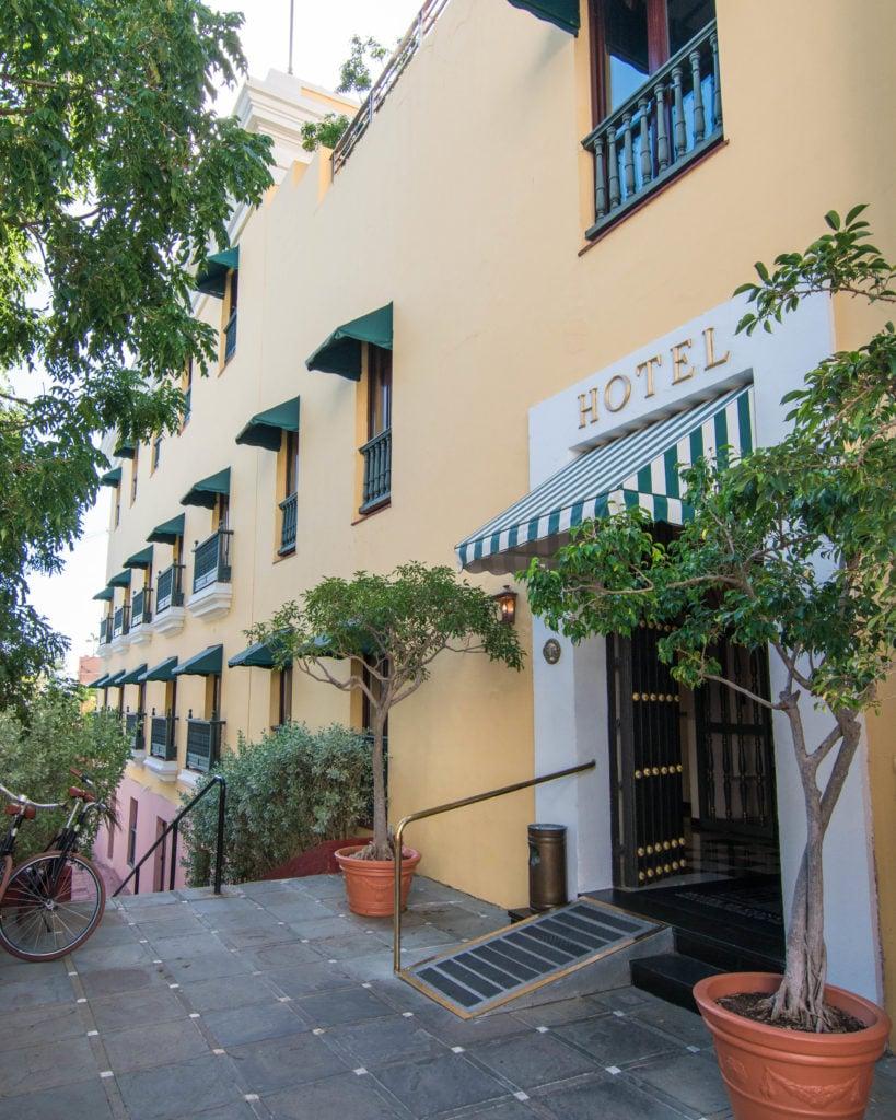 Front of Hotel El Convento in San Juan, Puerto Rico