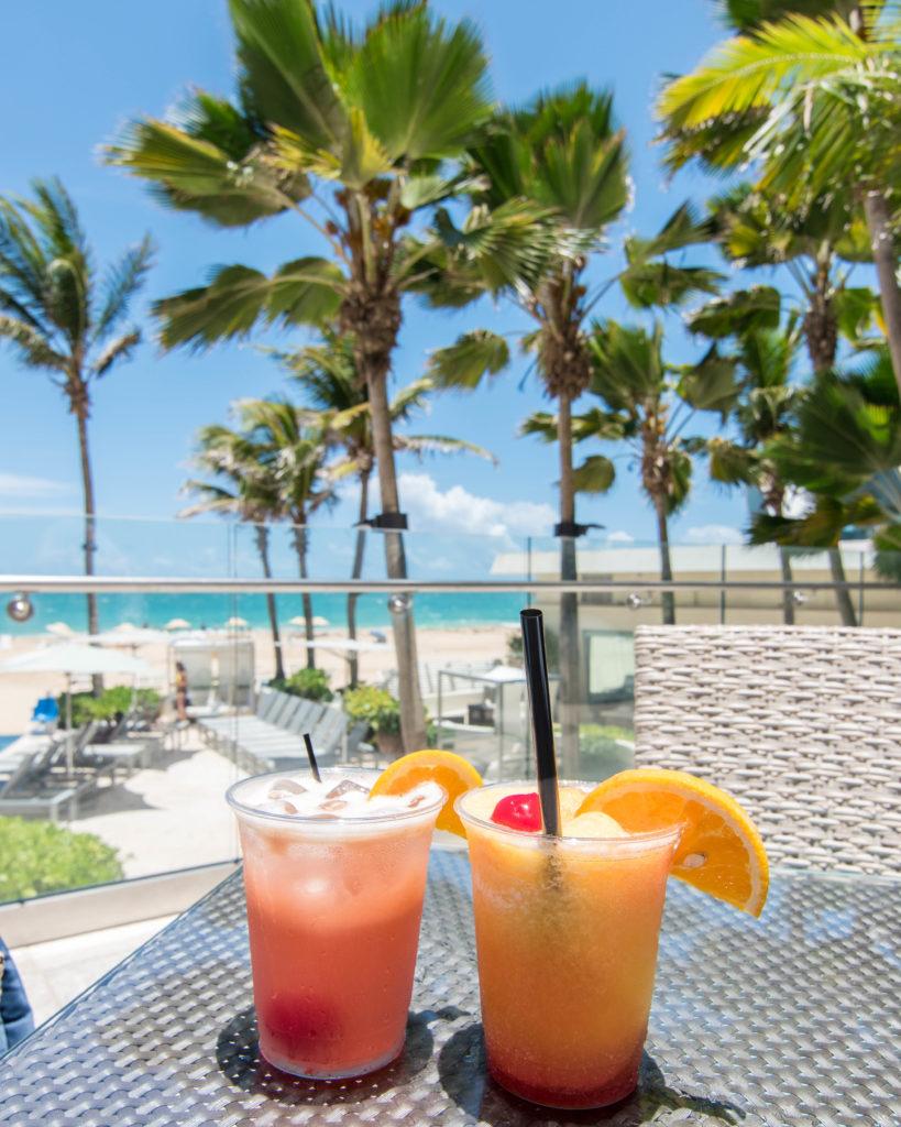 Tropical drinks at La Concha San Juan, Puerto Rico