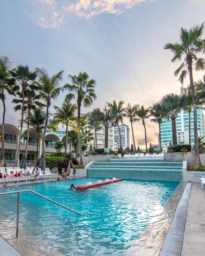 Large main pool at La Concha Resort San Juan, Puerto Rico