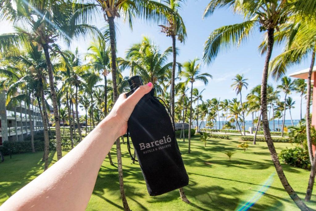 Barceló bottle of rum Barceló Bávaro Grand Resort