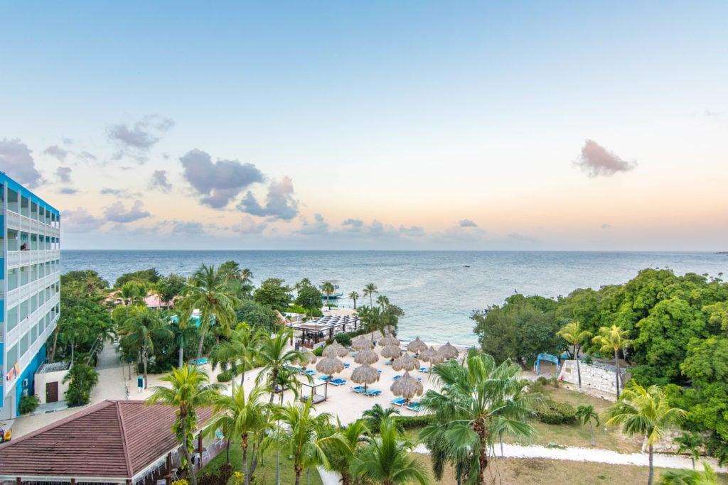 The Hilton Curaçao view from balcony
