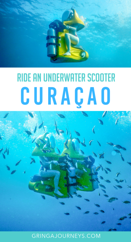 Aquafari Curaçao is great for non-divers who want to have an underwater experience. See your favorite aquatic creatures, all while on a motor scooter! #curacao #aquafari #underwaterscooter