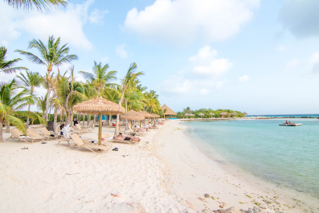 A view of Iguana Beach on Renaissance Aruba Private Island