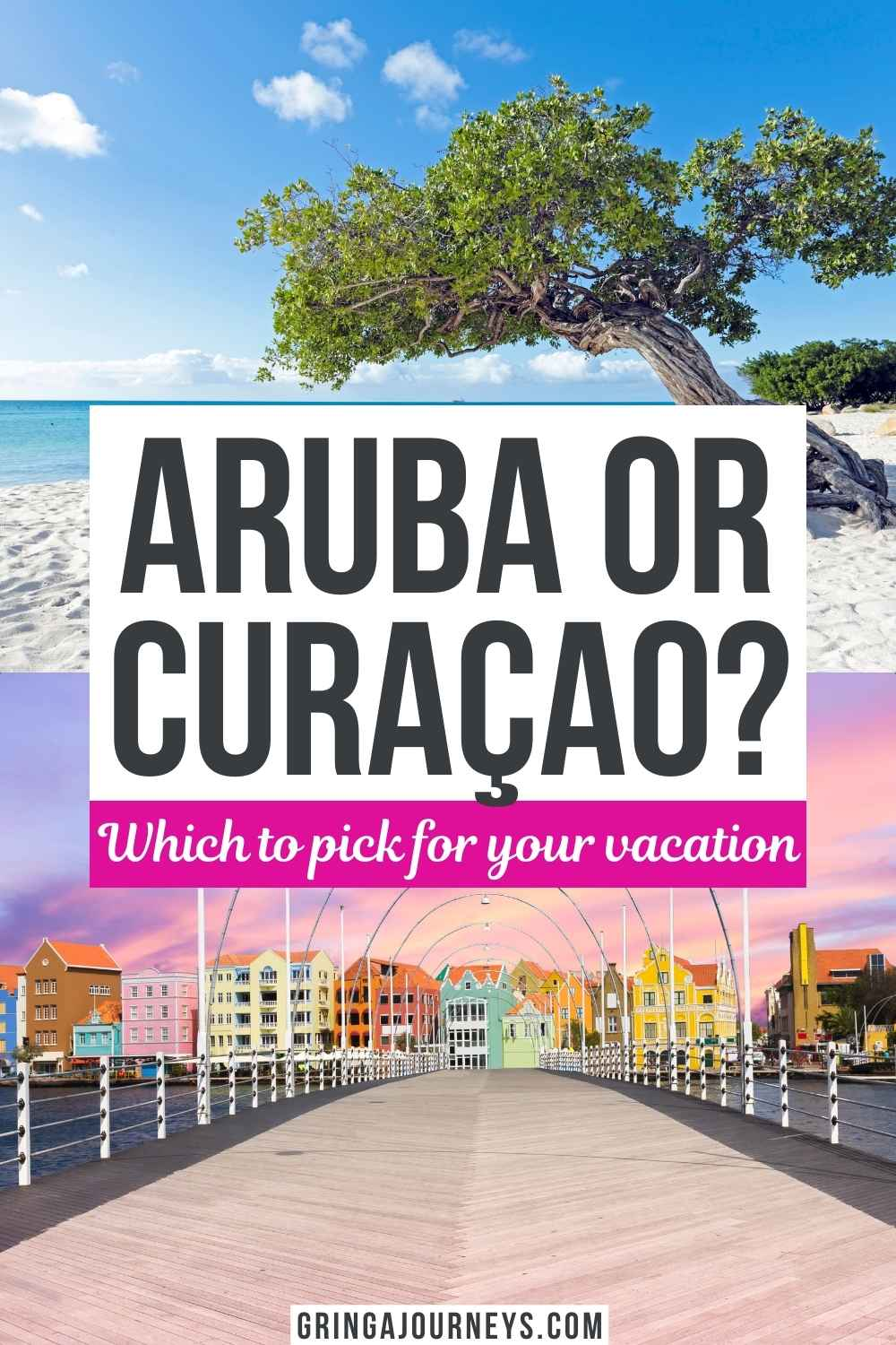 Is Aruba or Curaçao better? We'll compare Aruba vs. Curaçao based on geography, popularity, hotels, beaches, diving, culture, and more to help you plan your perfect Dutch Caribbean vacation.   curacao vs aruba for vacation   aruba or curacao honeymoon   aruba and curaçao vacations   curacao vs aruba   abc islands   dutch Caribbean vacation