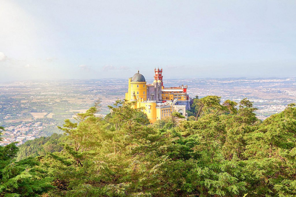 A view of Pena Palace in Sintra.
