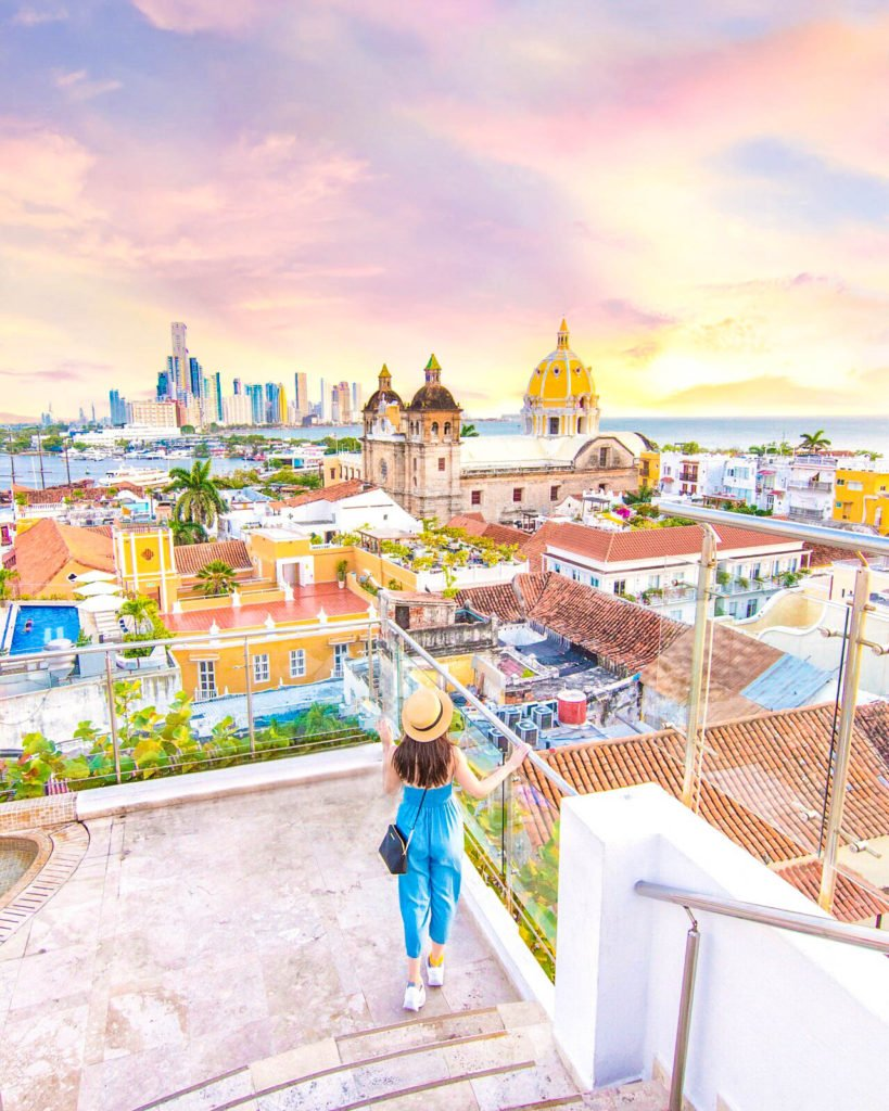 View from the top of Hotel Movich Cartagena