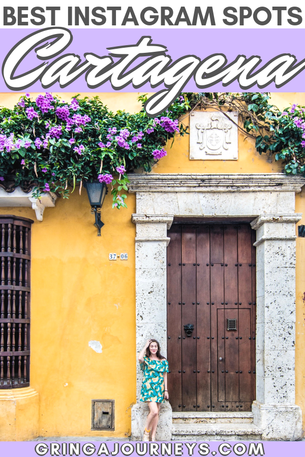 If you're planning to visit Cartagena, read this article for the exact locations of the best photo spots. I've even included a map at the end of this post! #cartagena #colombia #visitcolombia #colombiatravel #walledcity #ciudadamurallada #cartagenaphotos