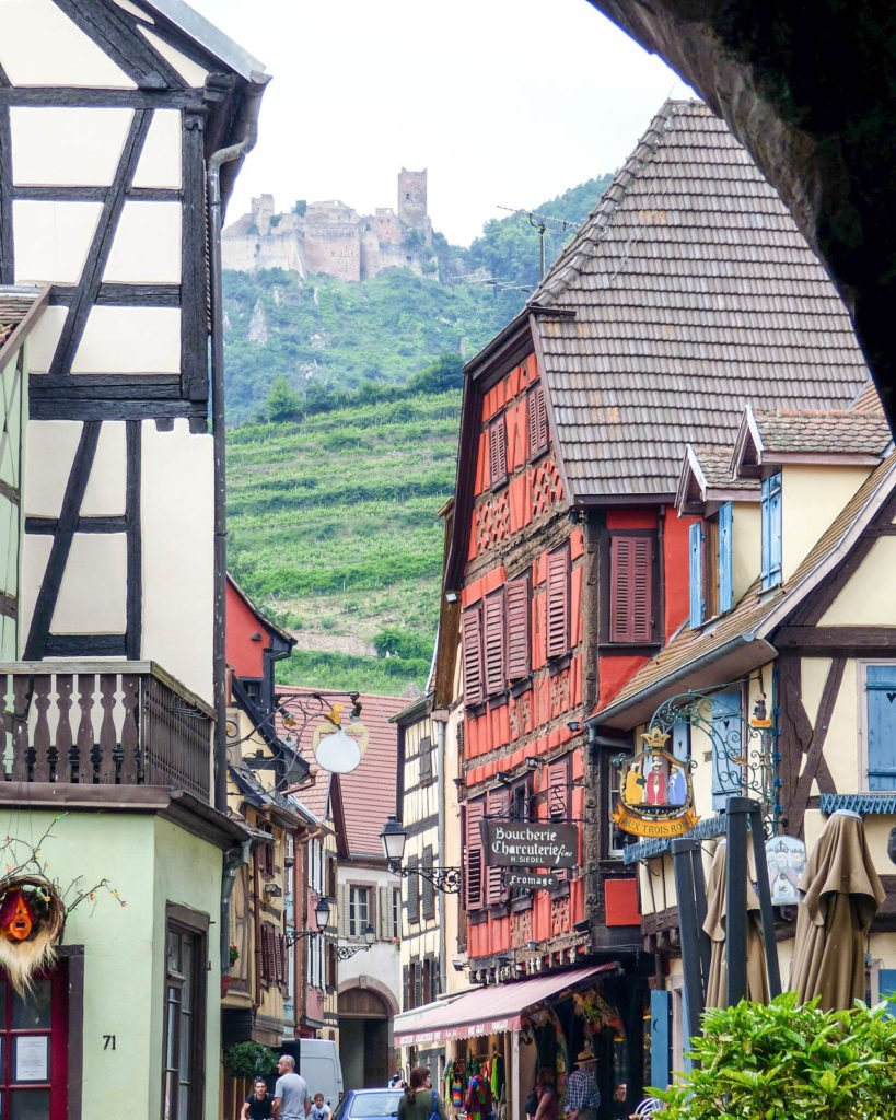 In this article, we'll cover the five best Alsace villages to visit as well as other useful information on traveling in this region of France. #france #alsace #frenchvillages #wineroute #alsatian #colmar #riquewihr #ribeauvillé #eguisheim #kaysersberg
