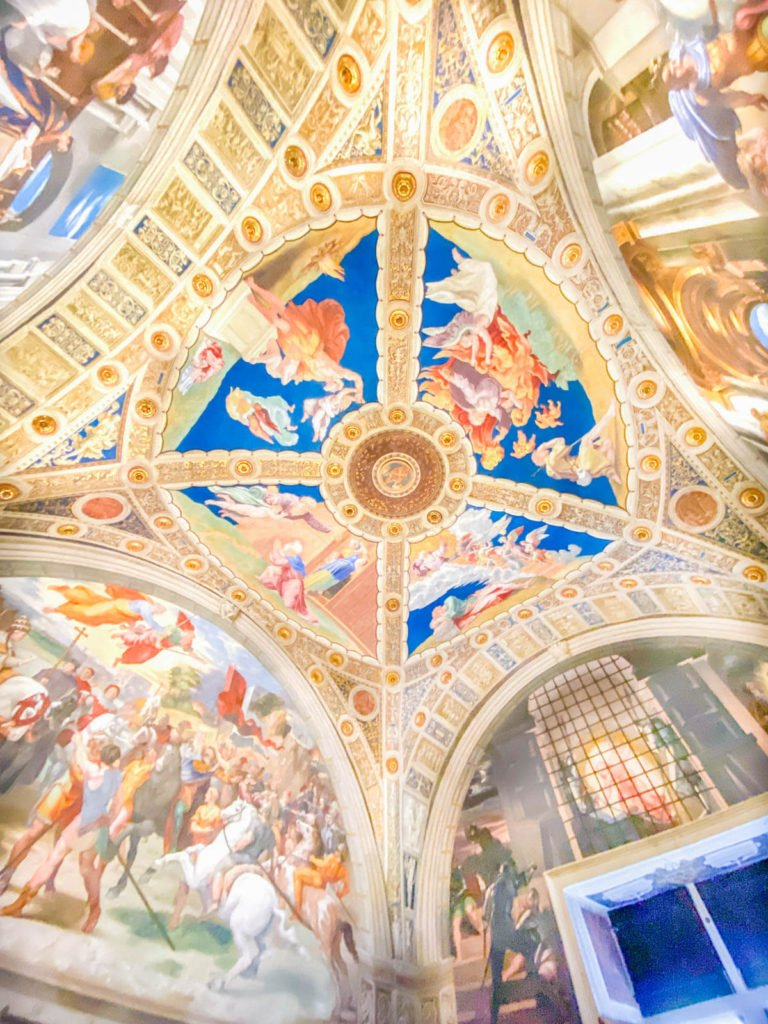 The ceiling in Raphael's Rooms at the Vatican