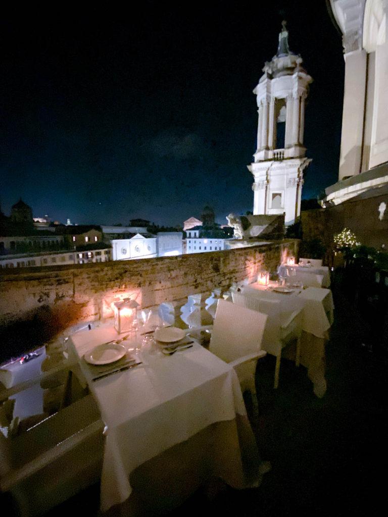 View over Piazza Navona from Terrazza Borromini