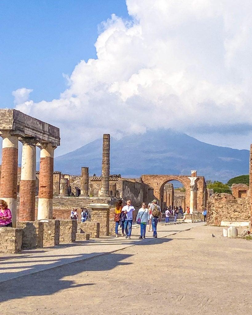 View of the Pompeii Forum