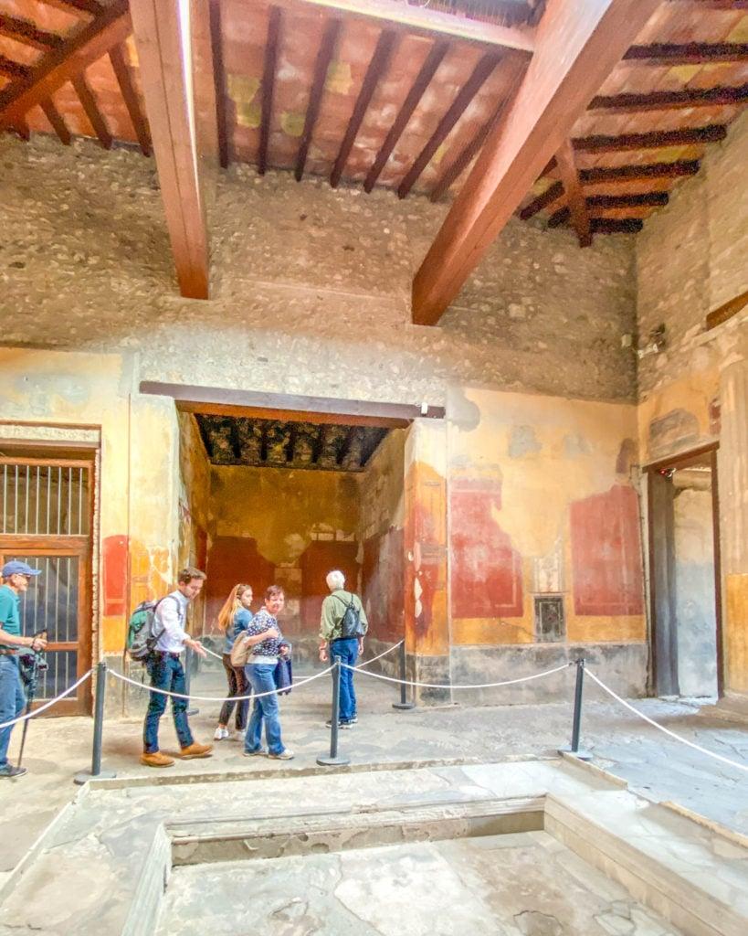 Interior of House of Menander at Pompeii