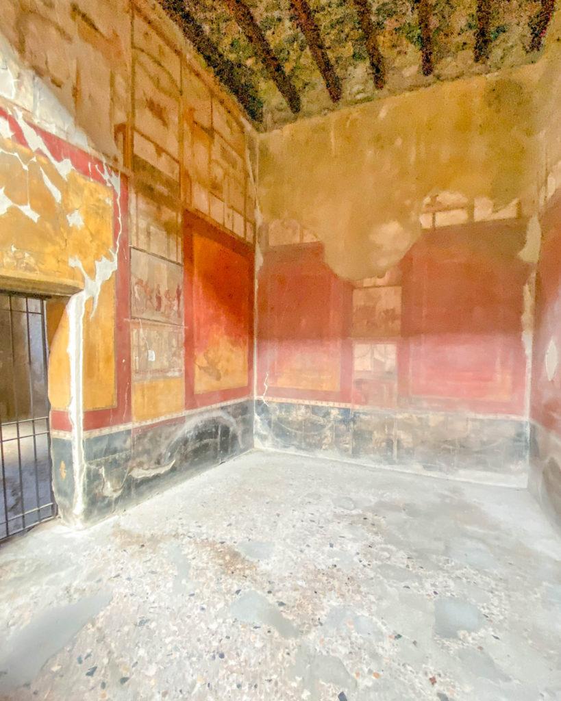 Interior frescoes at House of Menander, Pompeii