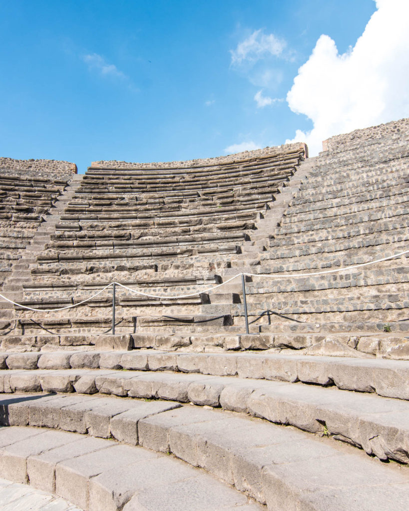 Theater at Pompeii archeological site