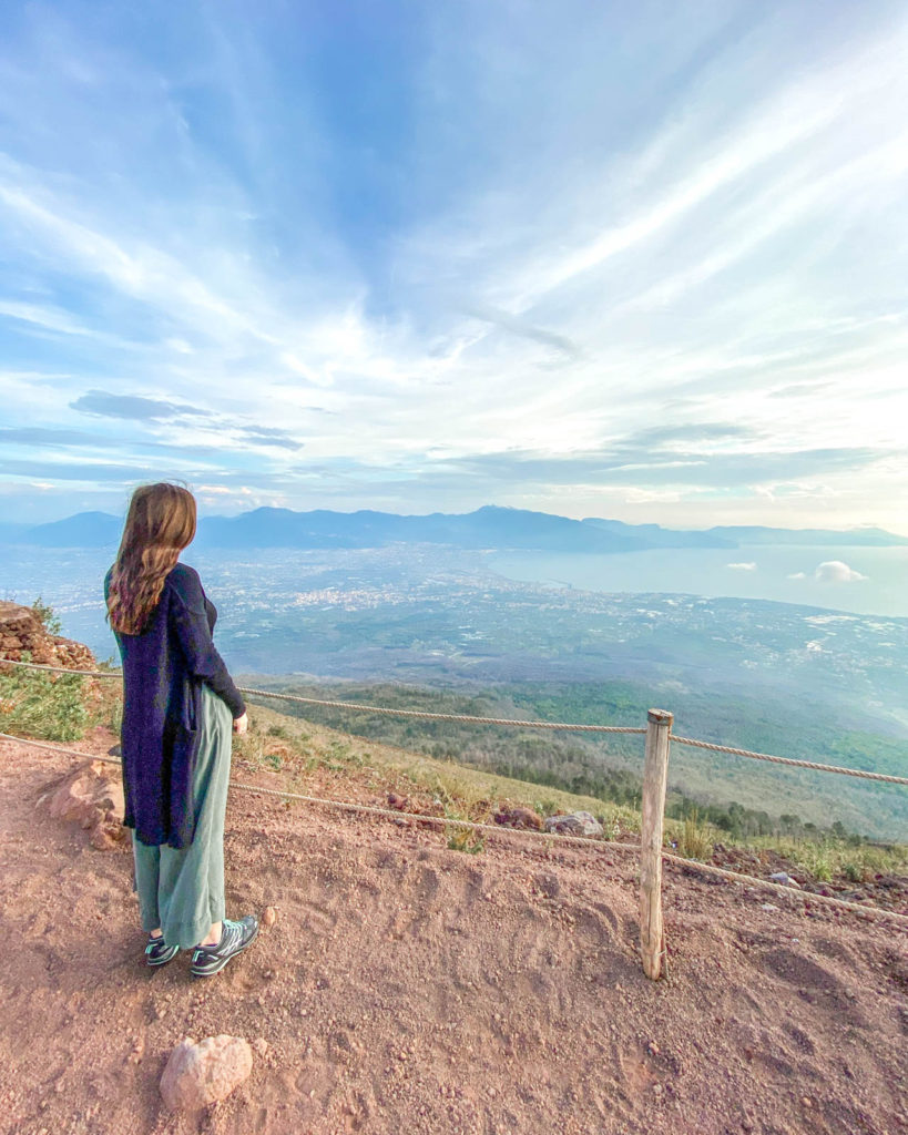 View from Mt. Vesuvius of the Bay of Naples