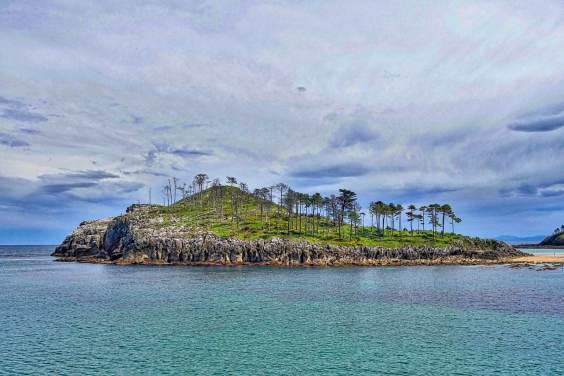 Island in Lekeitio, Spain
