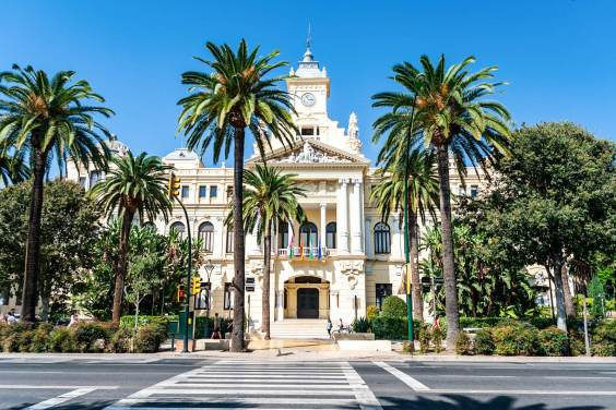 View of the Malaga town hall
