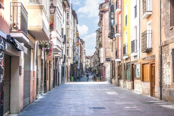 A colorful street in Vitoria-Gasteiz