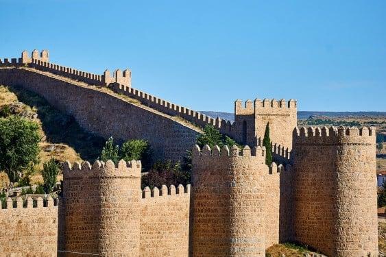 A view of the Ávila city walls