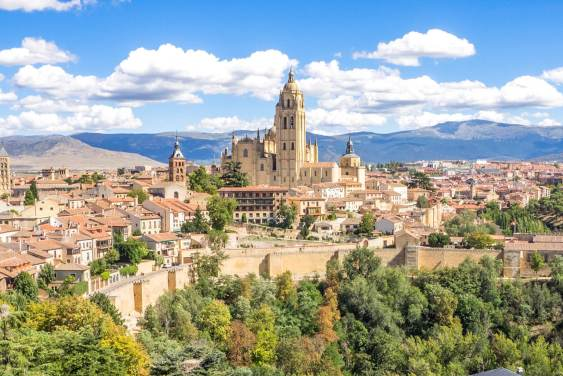 A view of the city of Segovia Spain
