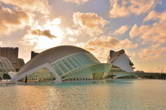 Museum at sunset in Valencia