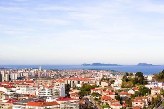 A view overlooking to city of Vigo