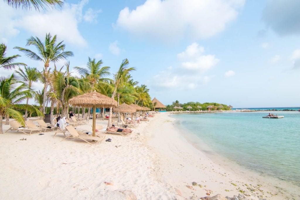 A view of Iguana Beach in Aruba
