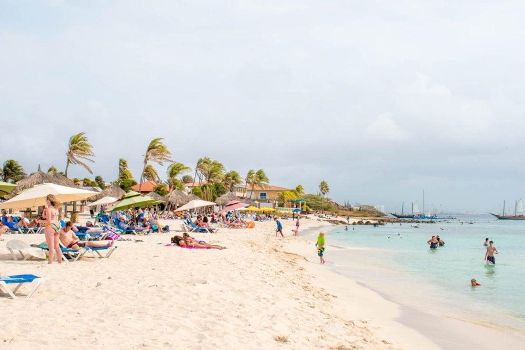 Arashi Beach on Aruba