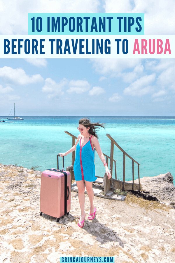 In this Aruba travel guide, I'll share the 10 most important things to know before visiting One Happy Island–plus a few extra pro travel tips at the end! #Arubatravel #Aruba #caribbean | Visiting Aruba | Traveling to Aruba | One Happy Island | Aruba insider tips | Aruba vacation tips | Information about Aruba | Aruba things to know | Aruba trip | Flamingo Beach | Flamingo island | Aruba pictures | Aruba photography