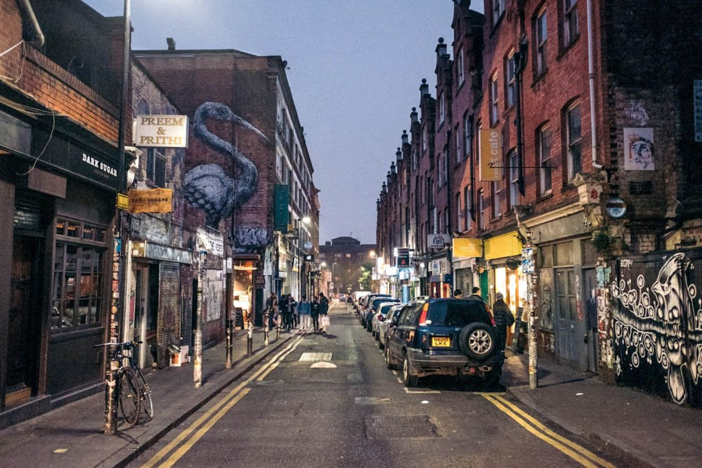 A view of Brick Lane in London