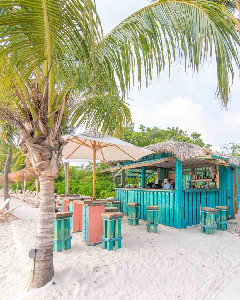 Mangrove Beach Bar on Renaissance Aruba Private Island