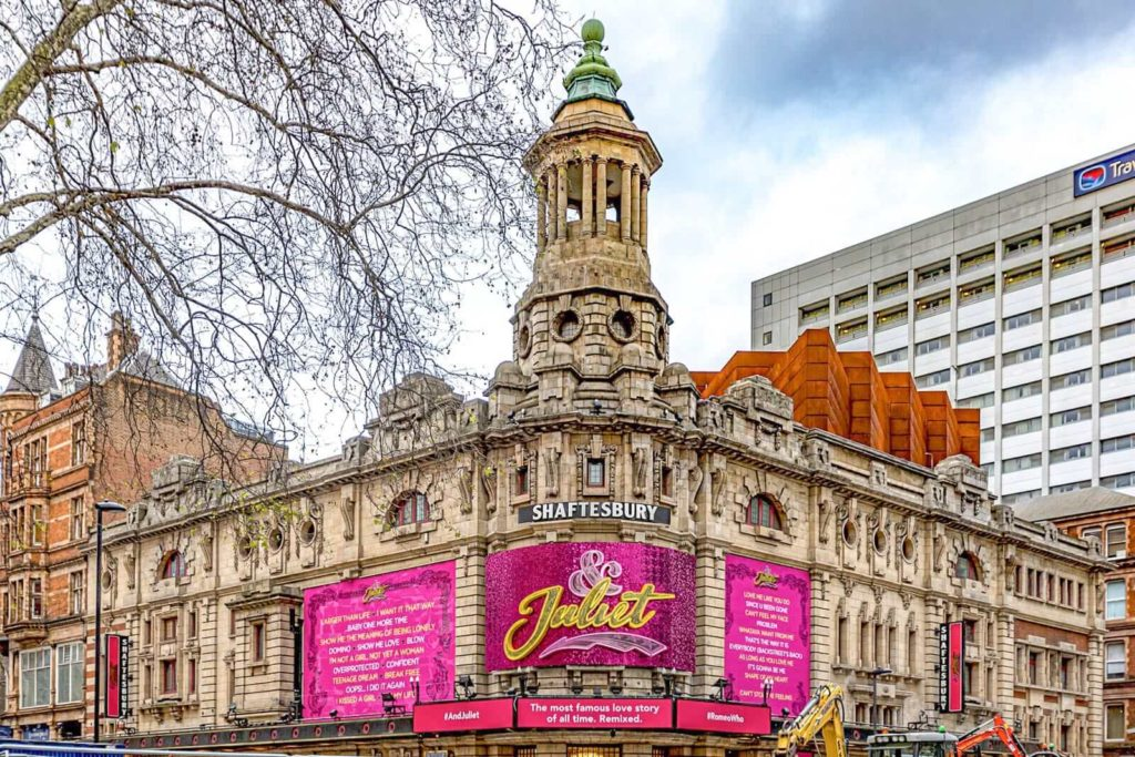 Shaftesbury Theatre in London