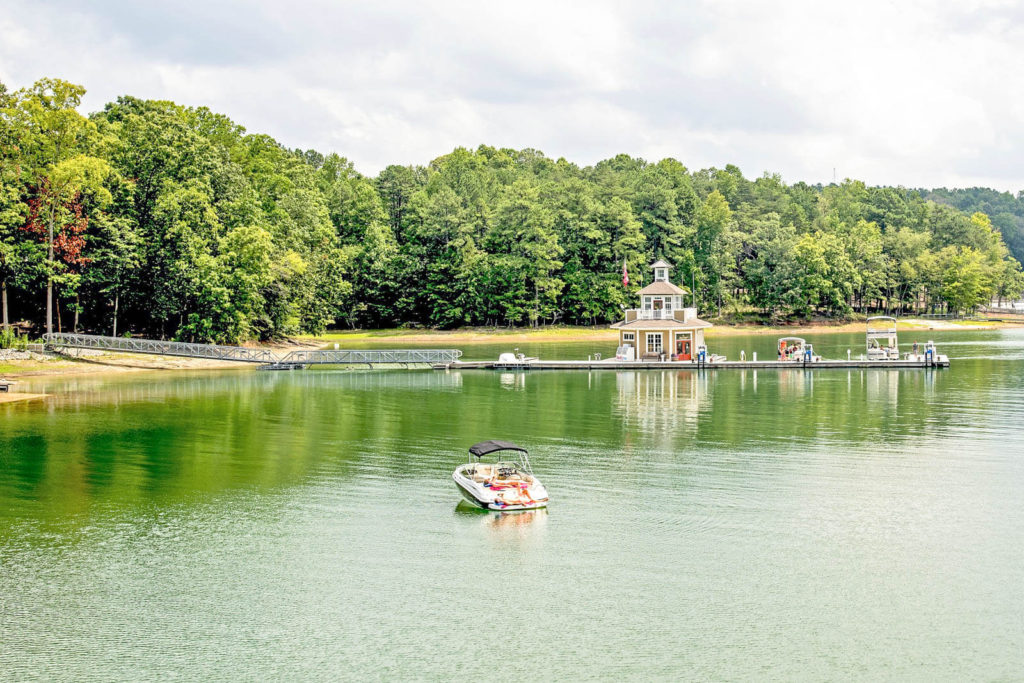 View of Lake Lanier in Georgia