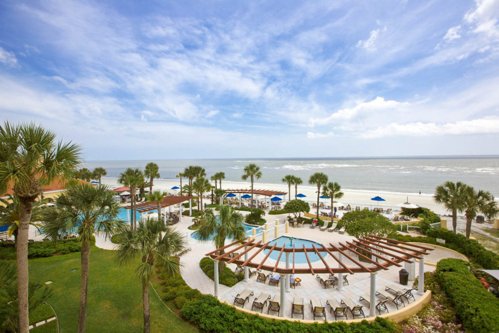 View of King and Prince Beach Resorts in Saint Simons, Georgia
