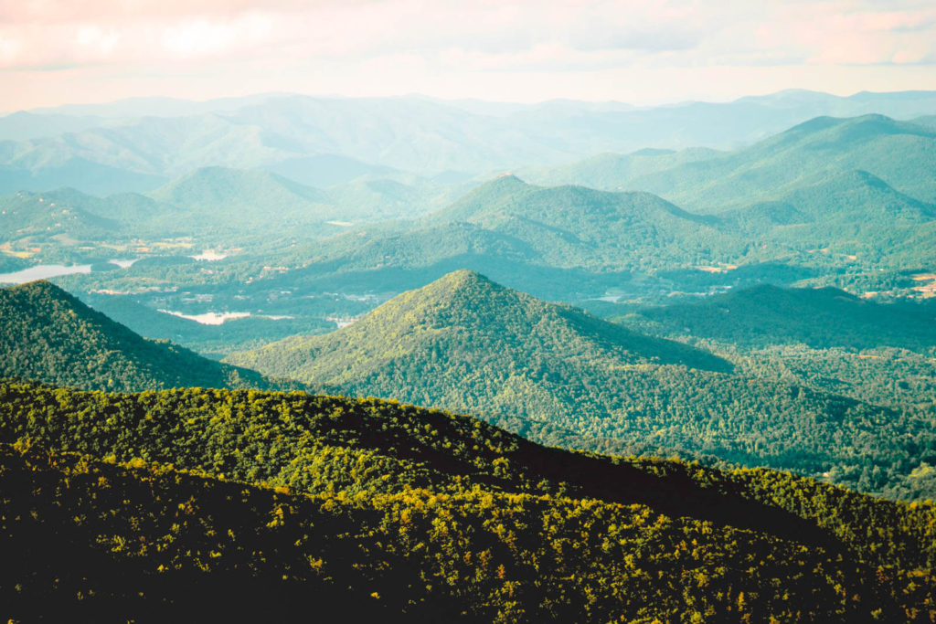 View from Brasstown Bald in Georgia