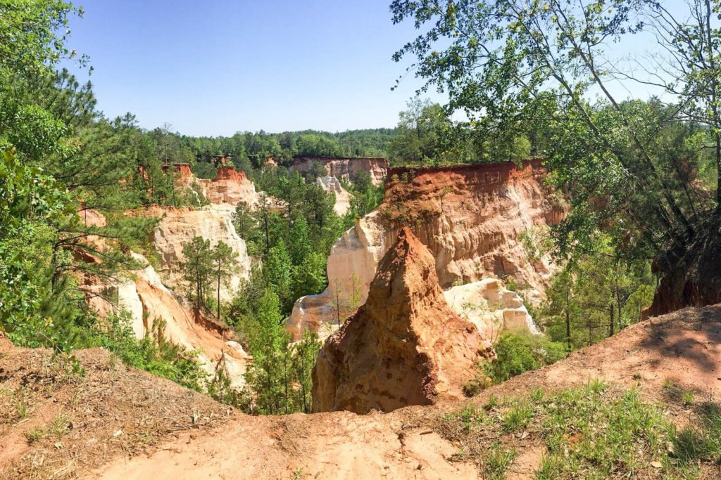 View of Georgia's Little Grand Canyon at Providence Canyon State Park
