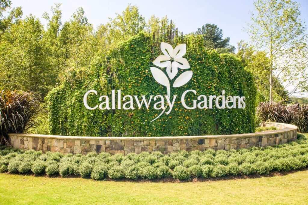 The entrance to Callaway Gardens in Georgia