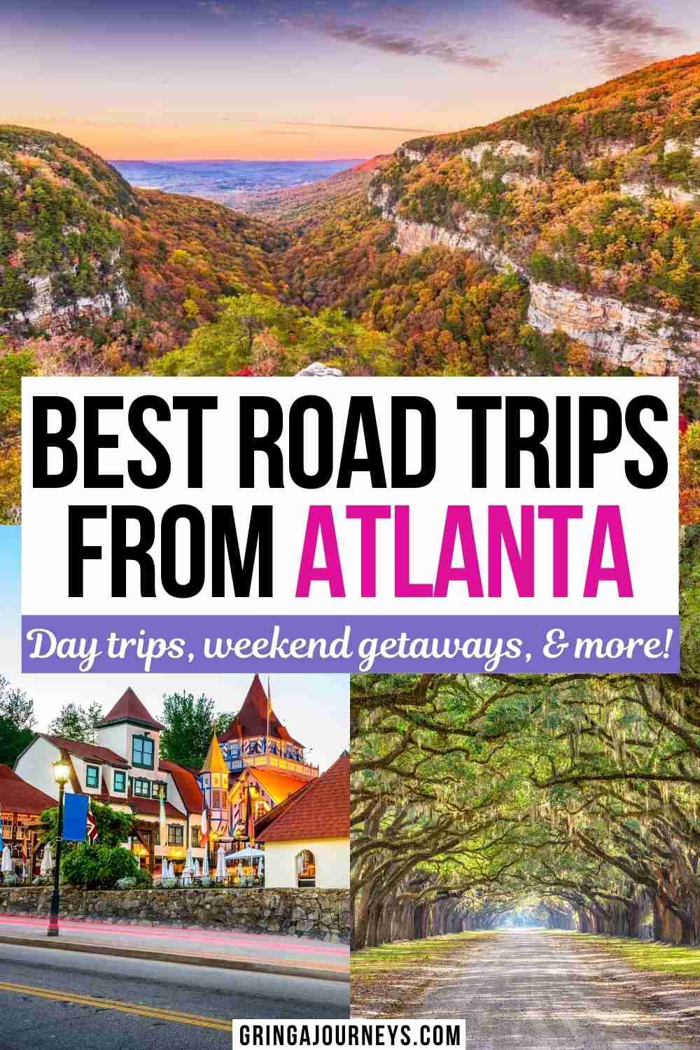 Explore the 27 best road trips from Atlanta, GA, including day trips, weekend getaways, and other top driving vacations from Atlanta.