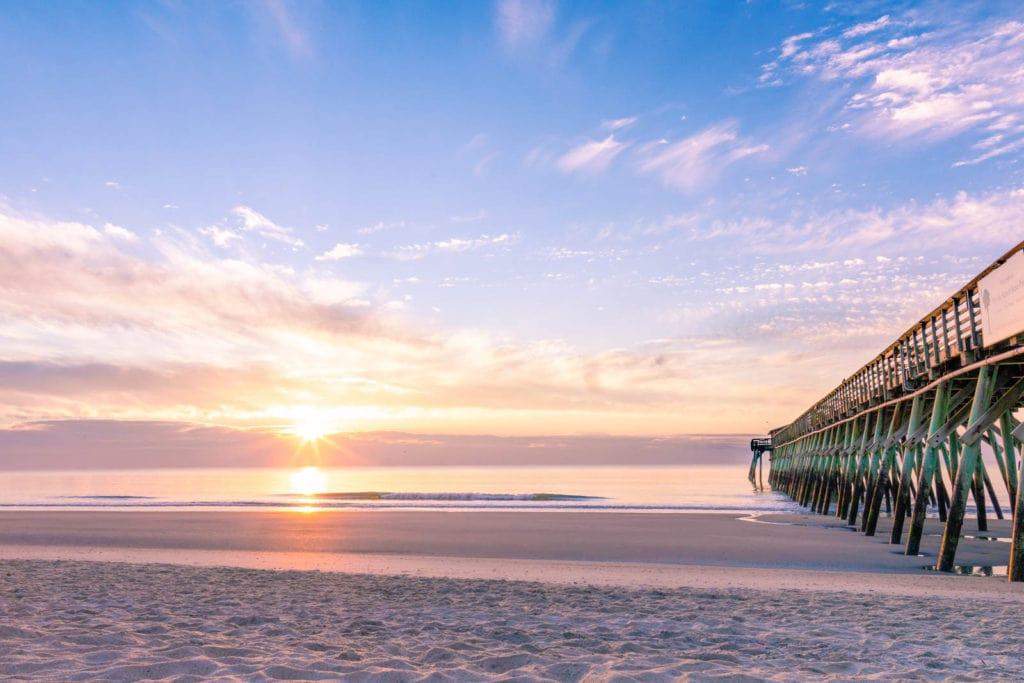Sunset on Myrtle Beach, South Carolina