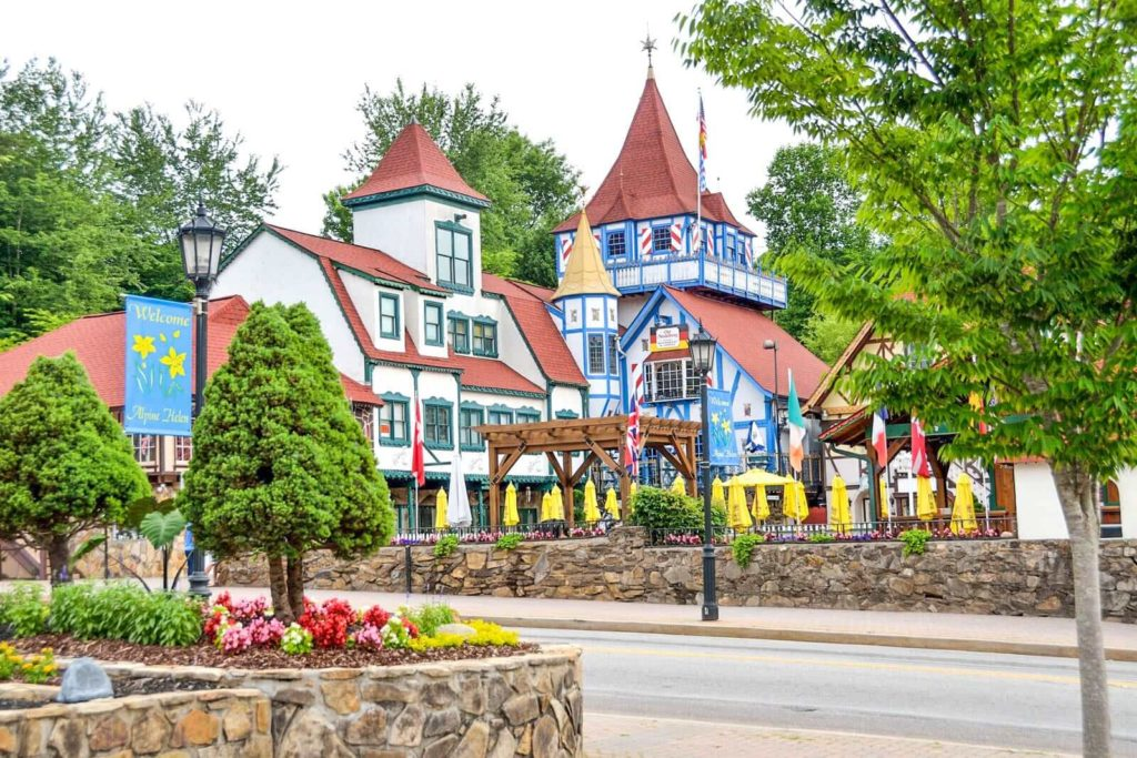 A view of Helen, Georgia's Bavarian style village