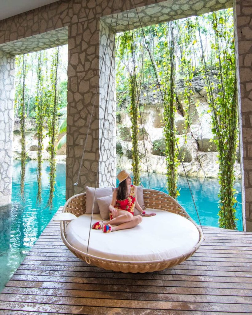 Muluk spa swing at Hotel Xcaret Mexico