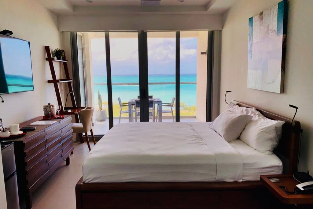 Oceanfront Prvt Entry Room & BALCONY - Eagle Beach via Airbnb.com