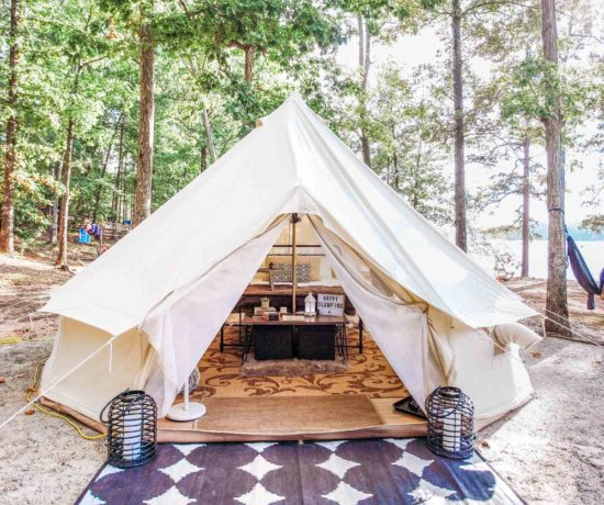 Luxury tent with Georgia Glamping Co on Lake Lanier