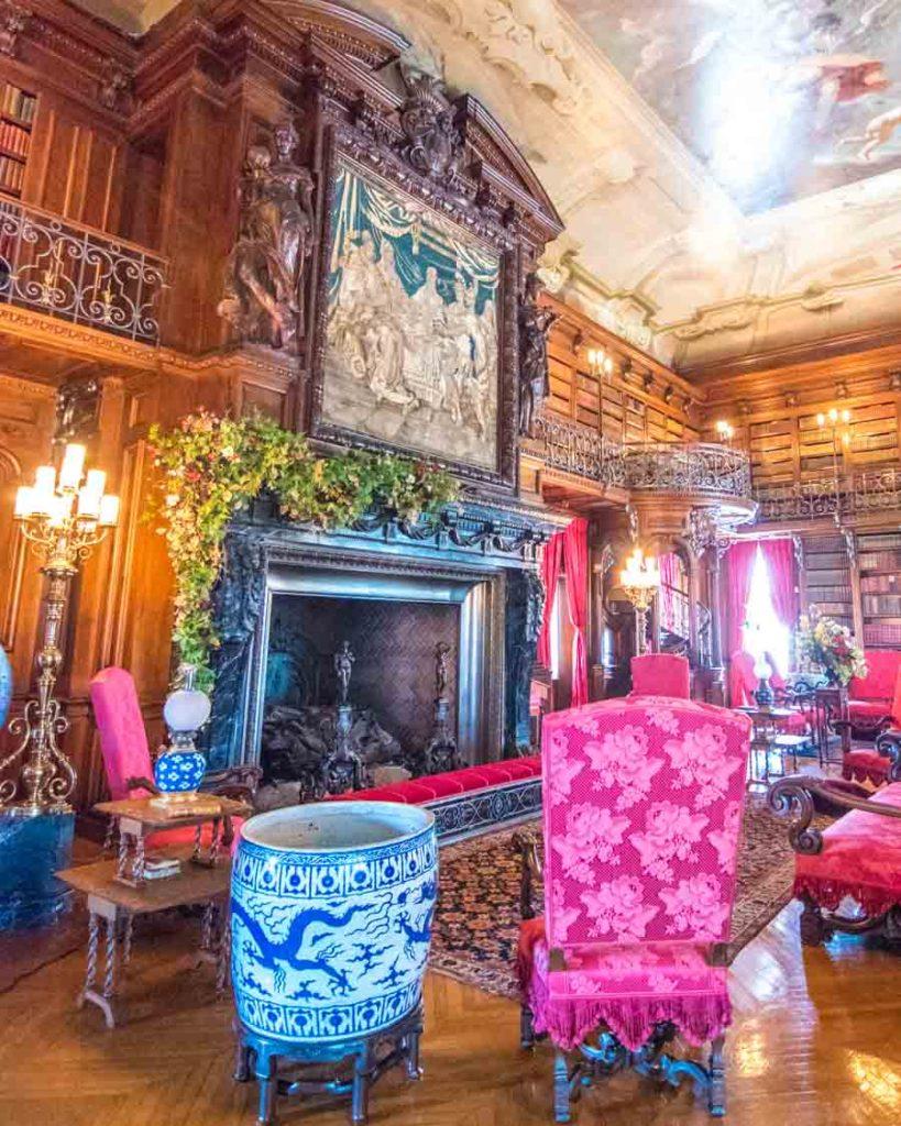 George Vanderbilt's library room inside the Biltmore House